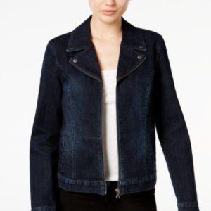 Style & Co Denim Moto Jacket